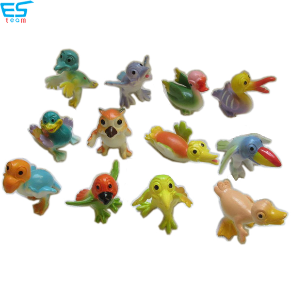 2inch funny cartoon bird figurines
