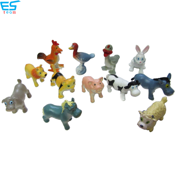 2inch funny cartoon farm animal figurines