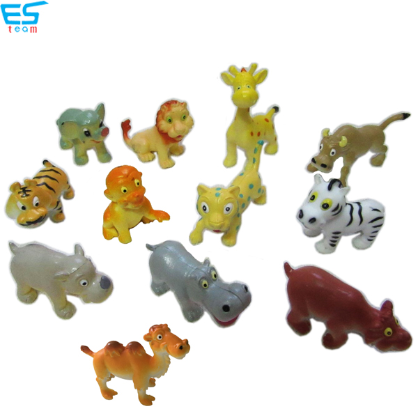 2inch funny cartoon forest animal figurines