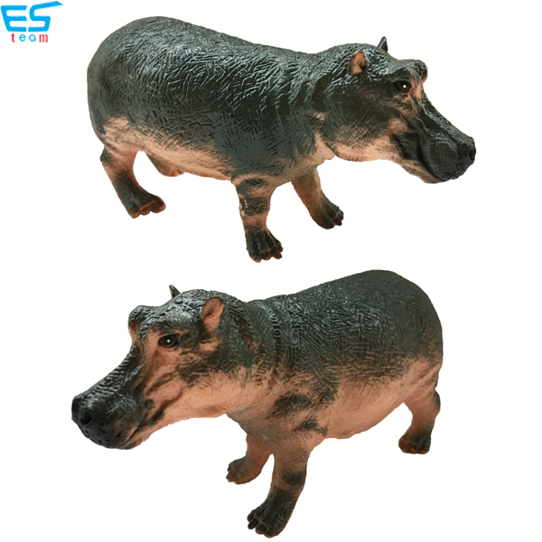 high simulation hippo figurine