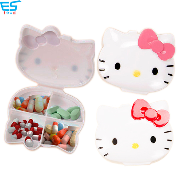 cute portable daily medicine organizer box