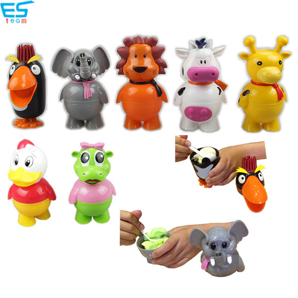 cartoon animal ice-cream cup