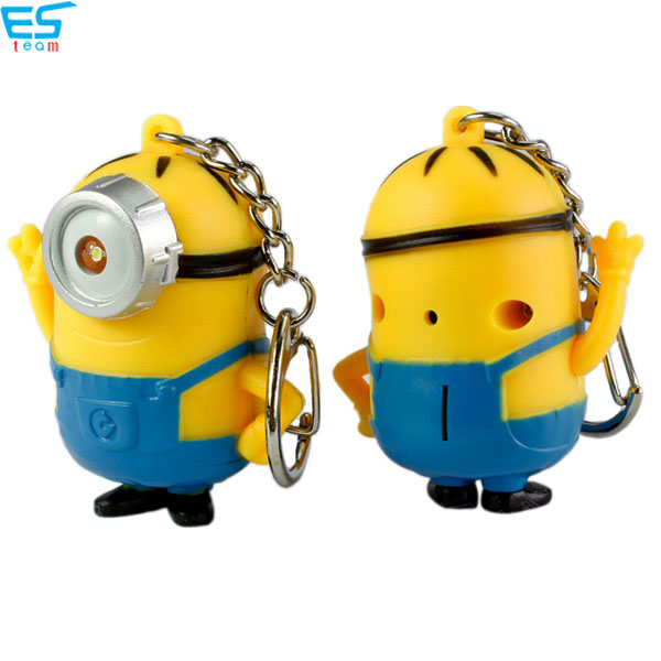 minions LED keychain with sound
