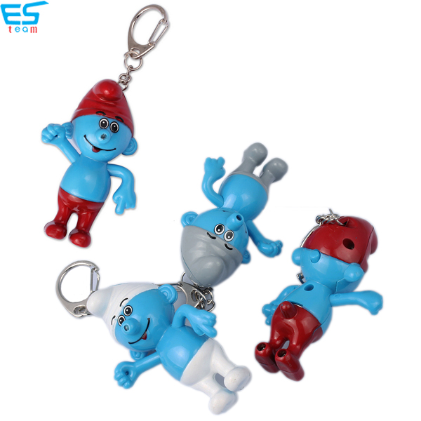 Smurfs LED keychain with sound