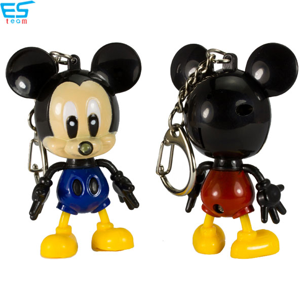 Mickey LED keychain with sound