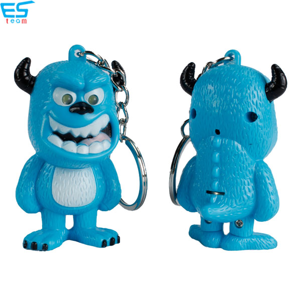 Monster Sulley LED keychain with sound