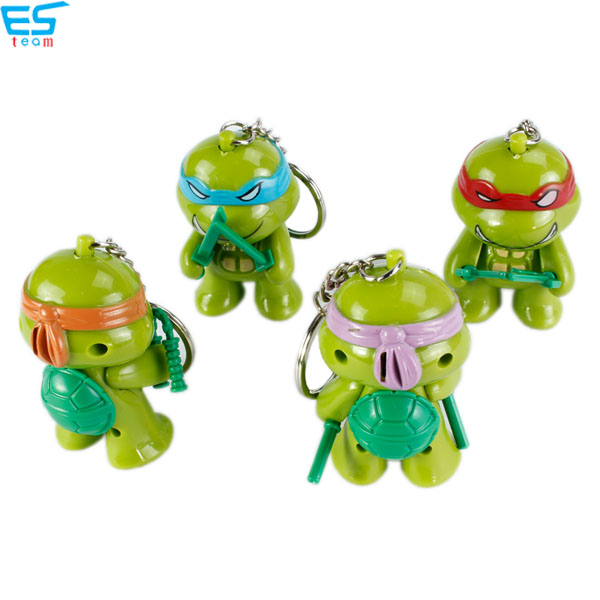Teenage Mutant Ninja Turtles LED keychain with sound