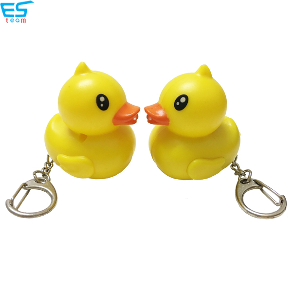 Duck LED keychain with sound