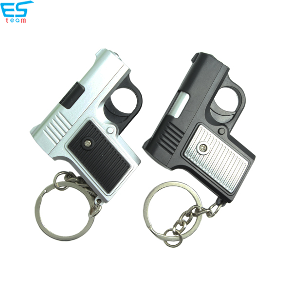 Handgun LED keychain with sound