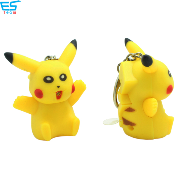 Pikachu LED keychain with sound
