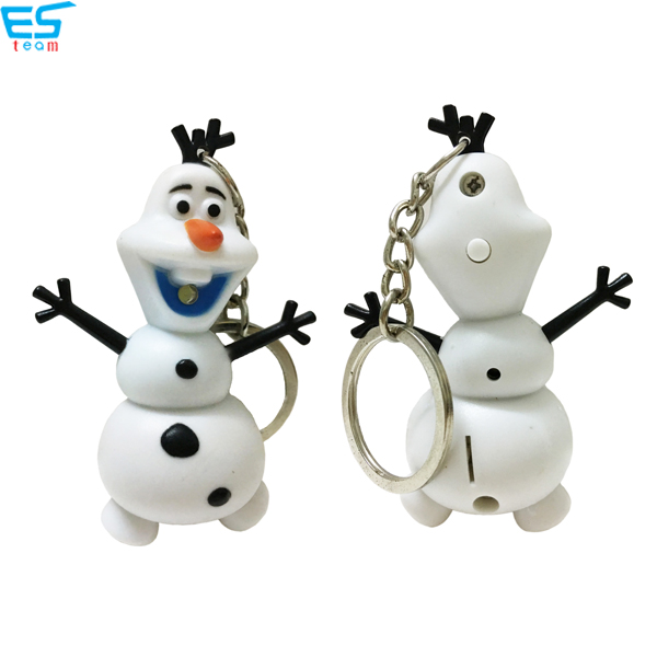 Frozen Olaf LED keychain with sound