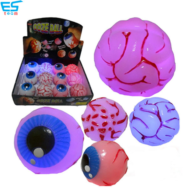 light up & bouncing up brain and eye toys