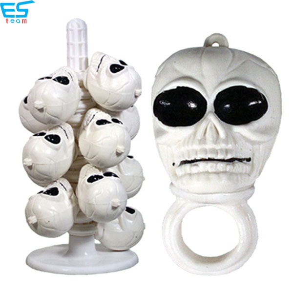 halloween light up skull head finger ring