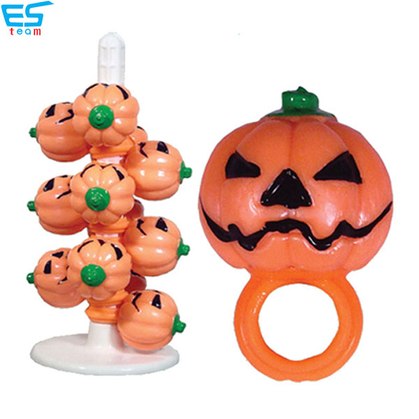 halloween light up pumpkin finger ring
